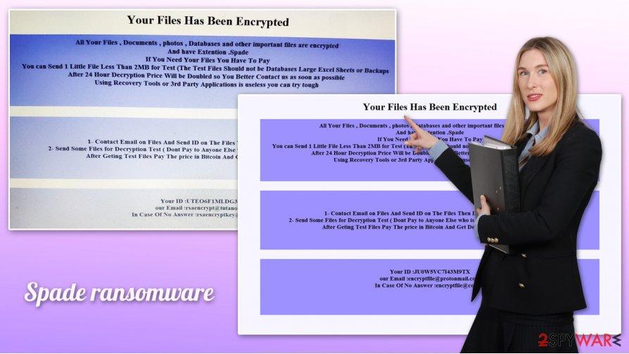 Spade ransomware virus