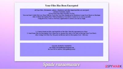Spade ransomware