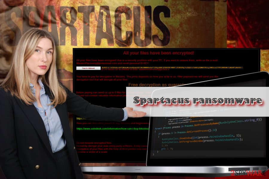 Spartacus virus displays lock screen