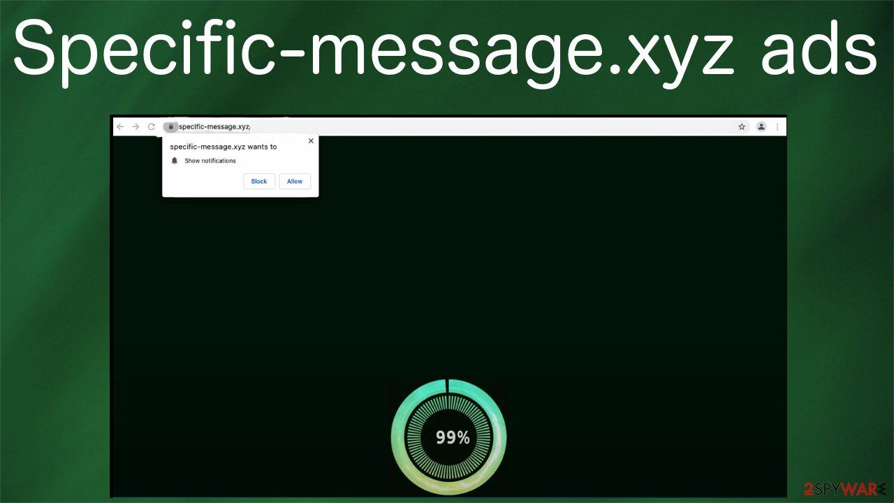 Specific-message.xyz ads