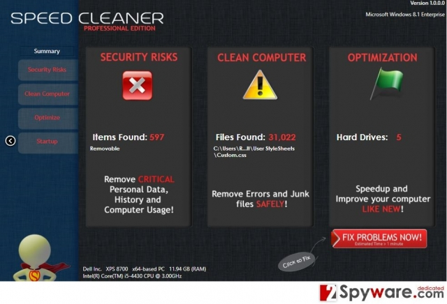 Speed Cleaner snapshot