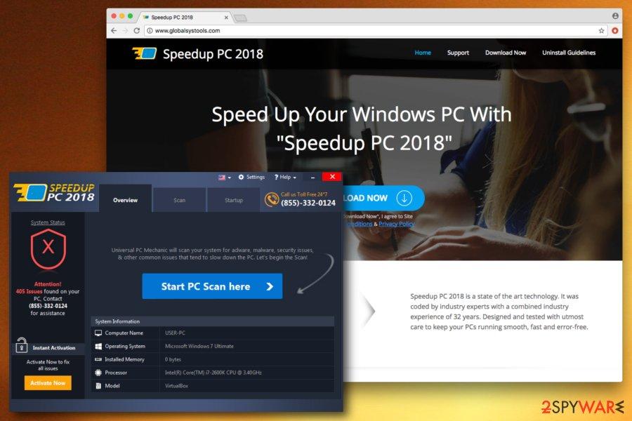 SpeedUpPC 2018 fake tool