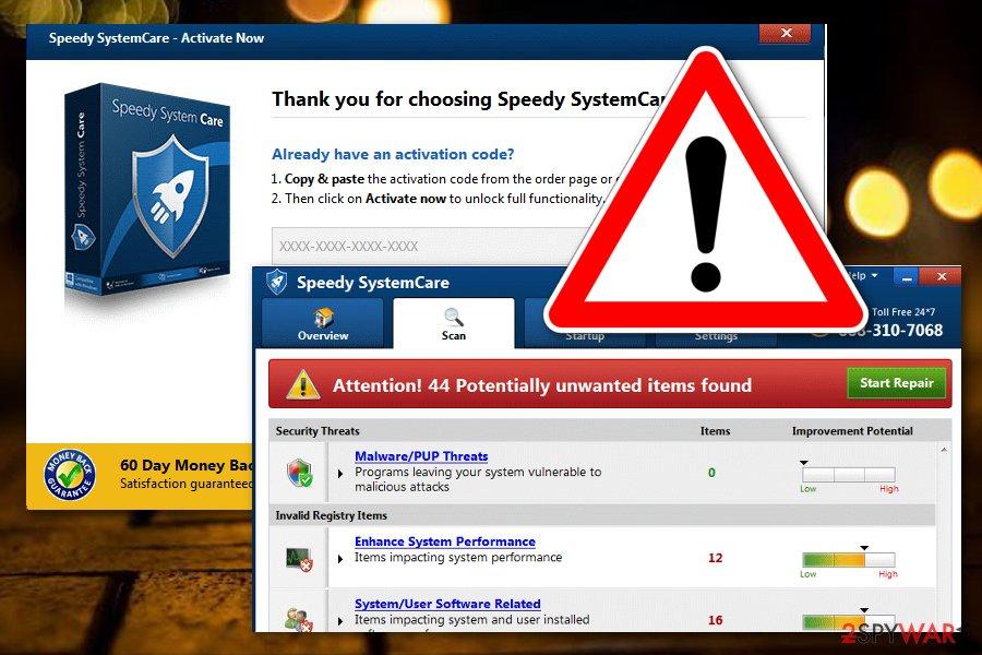 Speedy SystemCare virus