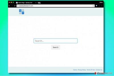 Speedydialsearch.com browser hijacker