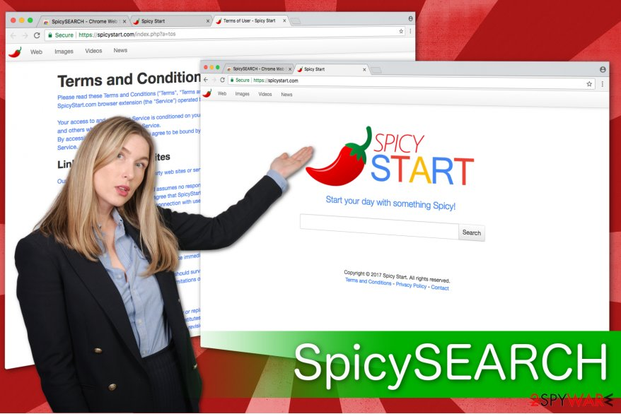 SpicySEARCH virus screenshot