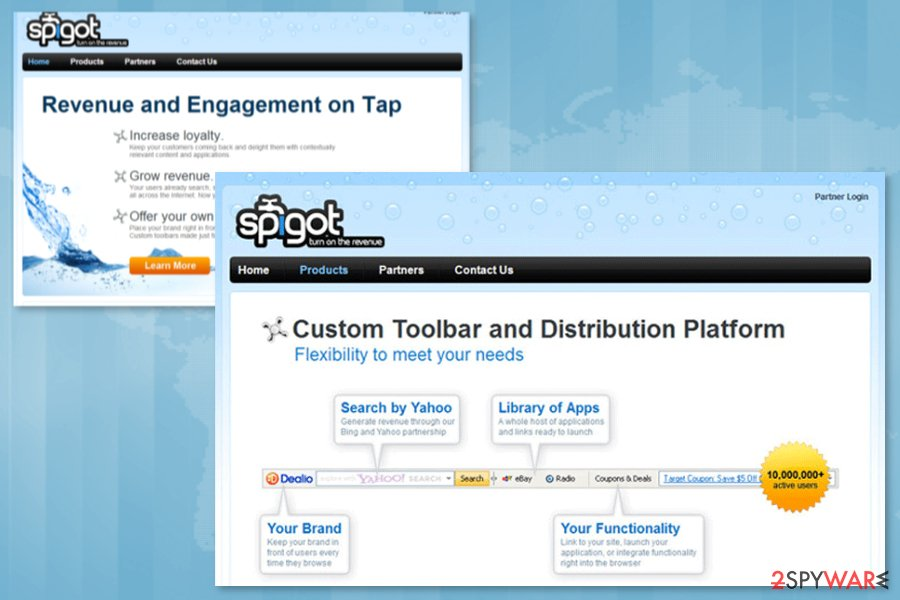 Image of Spigot Toolbar download page