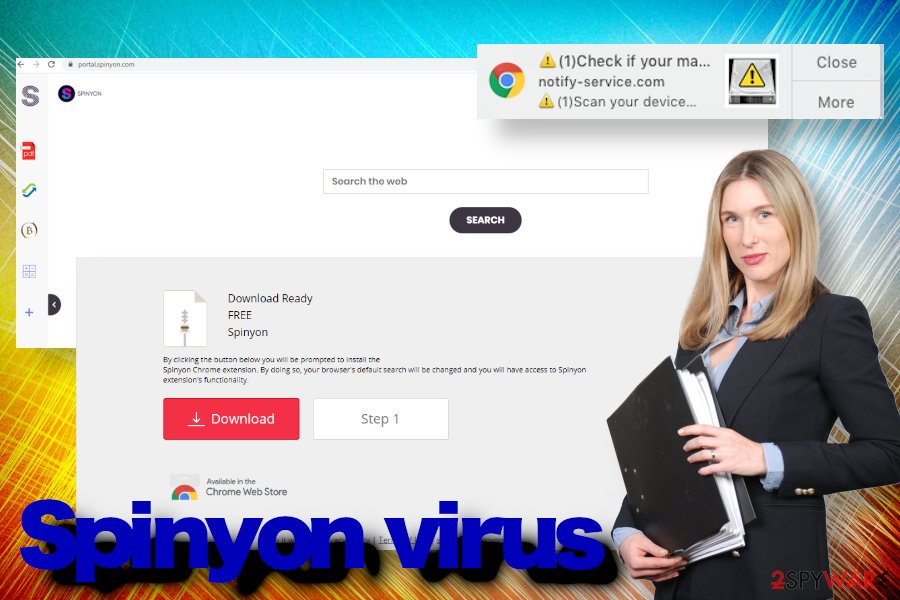 Spinyon redirect virus