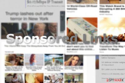The image displaying Sponsored Links sample