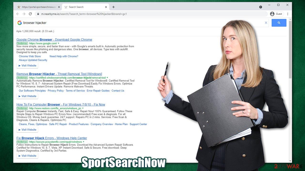 SportSearchNow virus