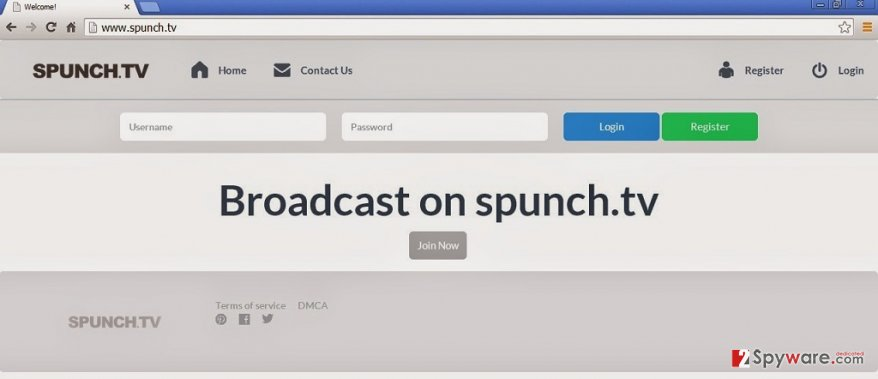 Spunch.TV adware snapshot