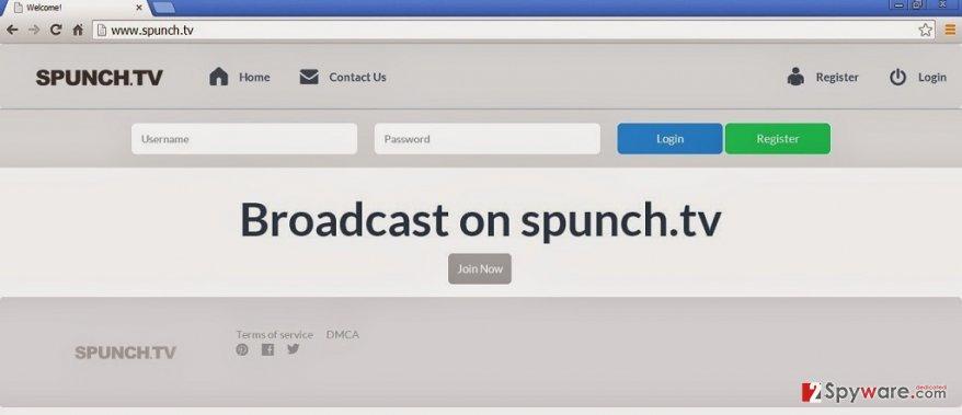 Spunch.TV adware snapshot