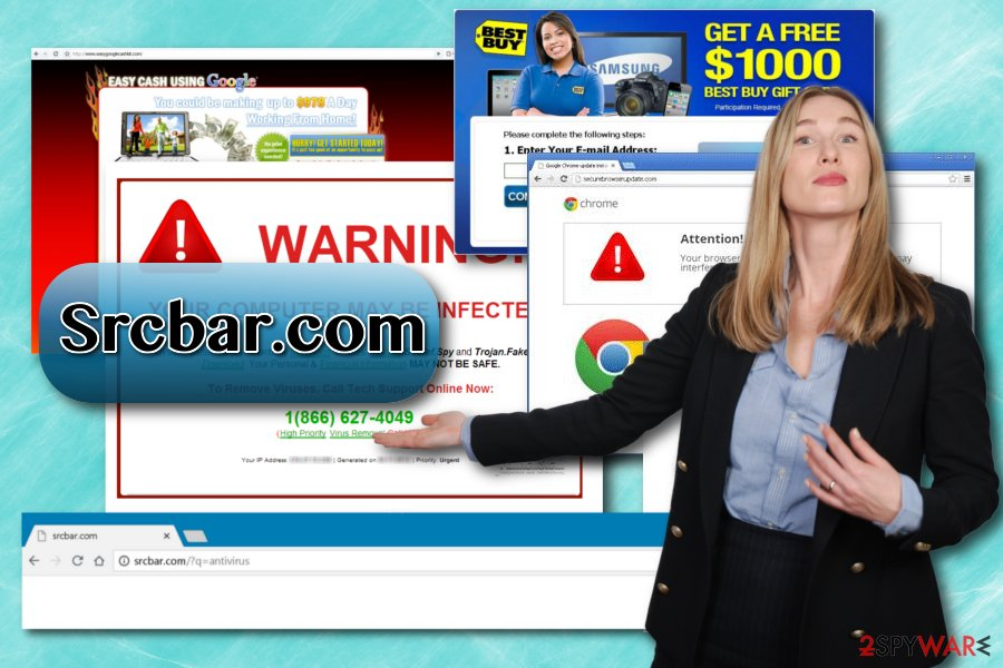 Srcbar.com browser hijacker
