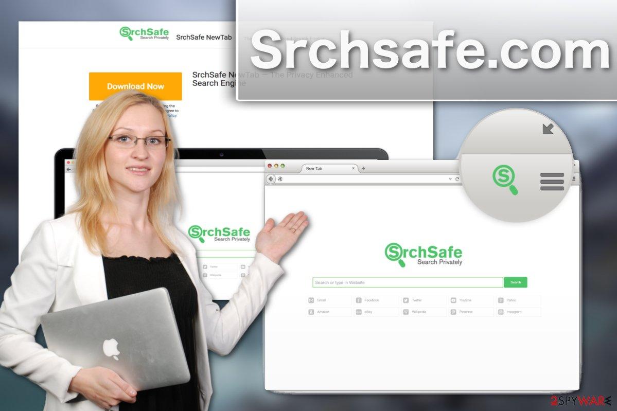 Srchsafe.com browser hijacker illustration