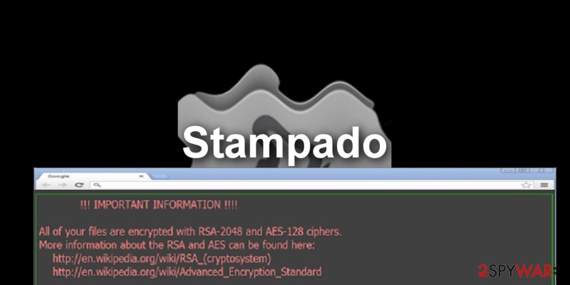 The screenshot of Stampado virus
