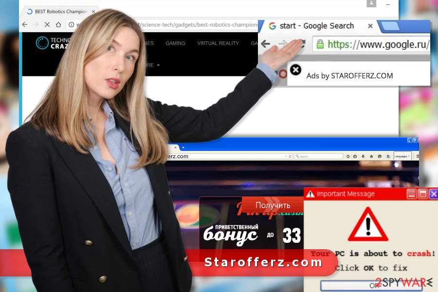 The image of Starofferz.com virus