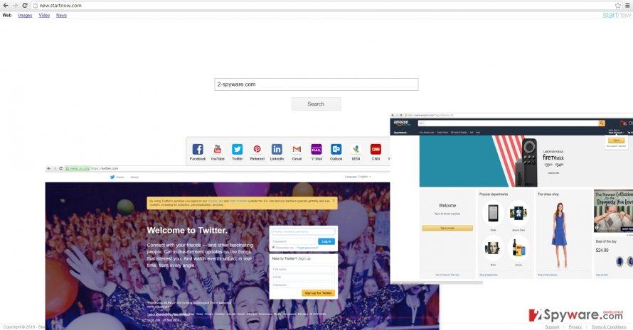 The screenshot of new.startnow.com