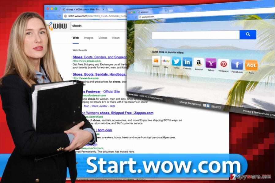 Screenshot of Start.wow.com search engine