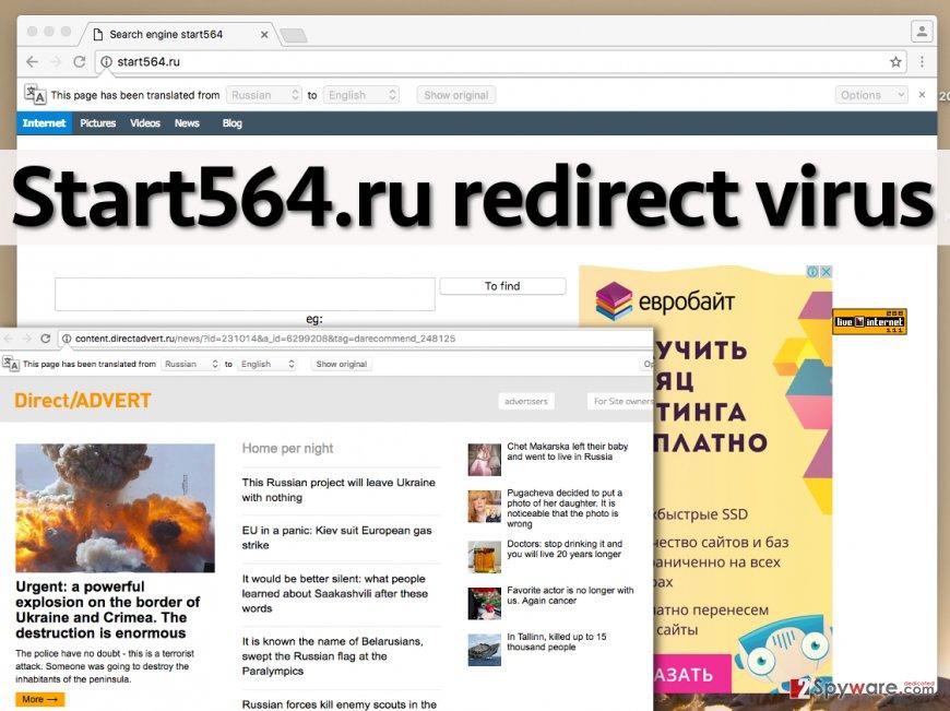 Start564.ru redirect virus