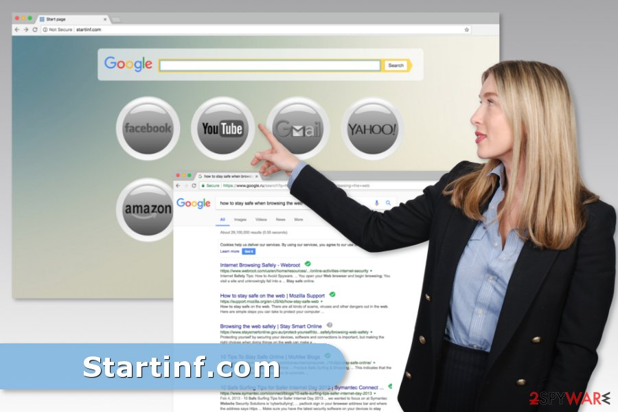 Image of Startinf.com virus