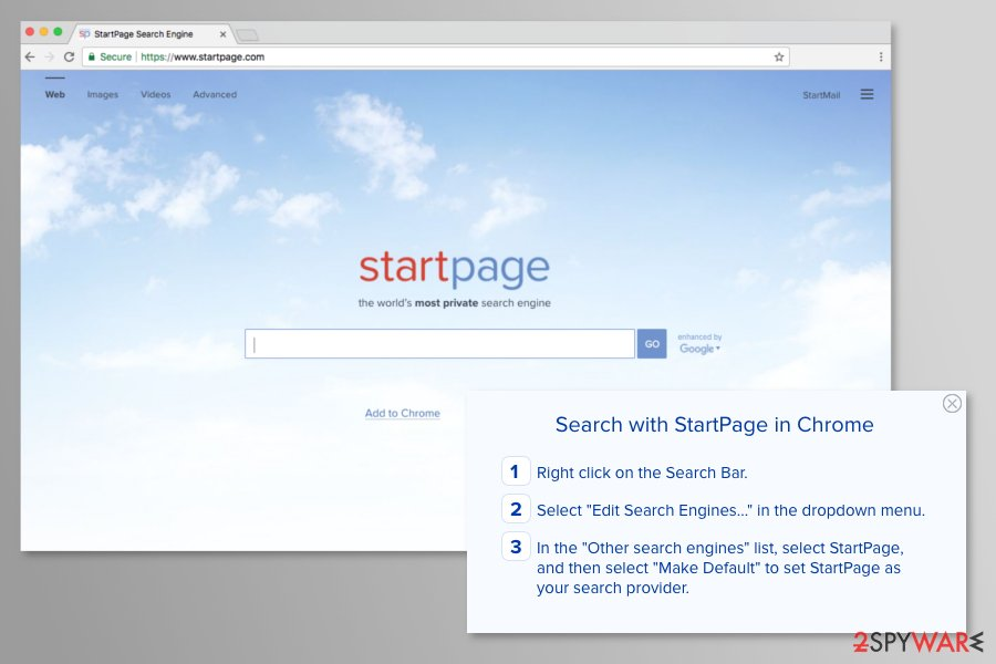 The picture of Startpage.com