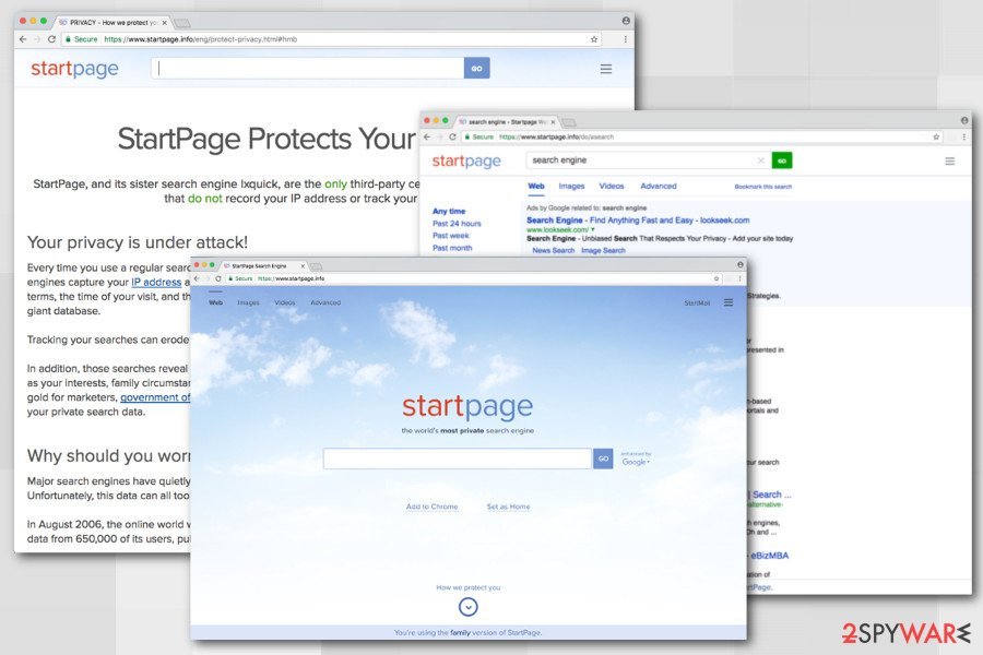 The image of StartPage.info virus
