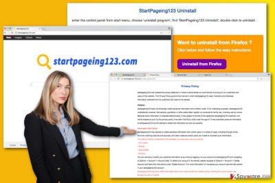 The illustration of StartPageing123.com virus