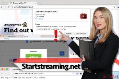 Startstreaming.net virus