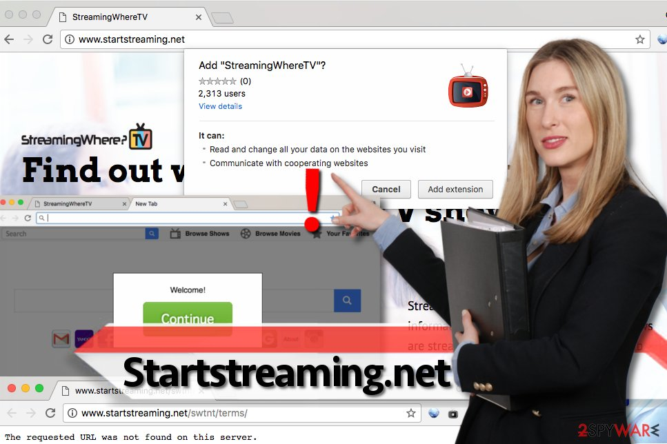 Startstreaming.net virus