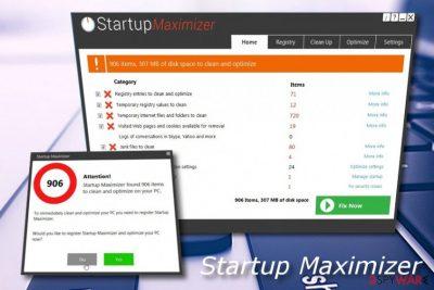 Startup Maximizer fake tool