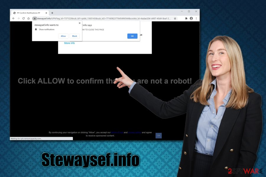 Stewaysef.info push notifications