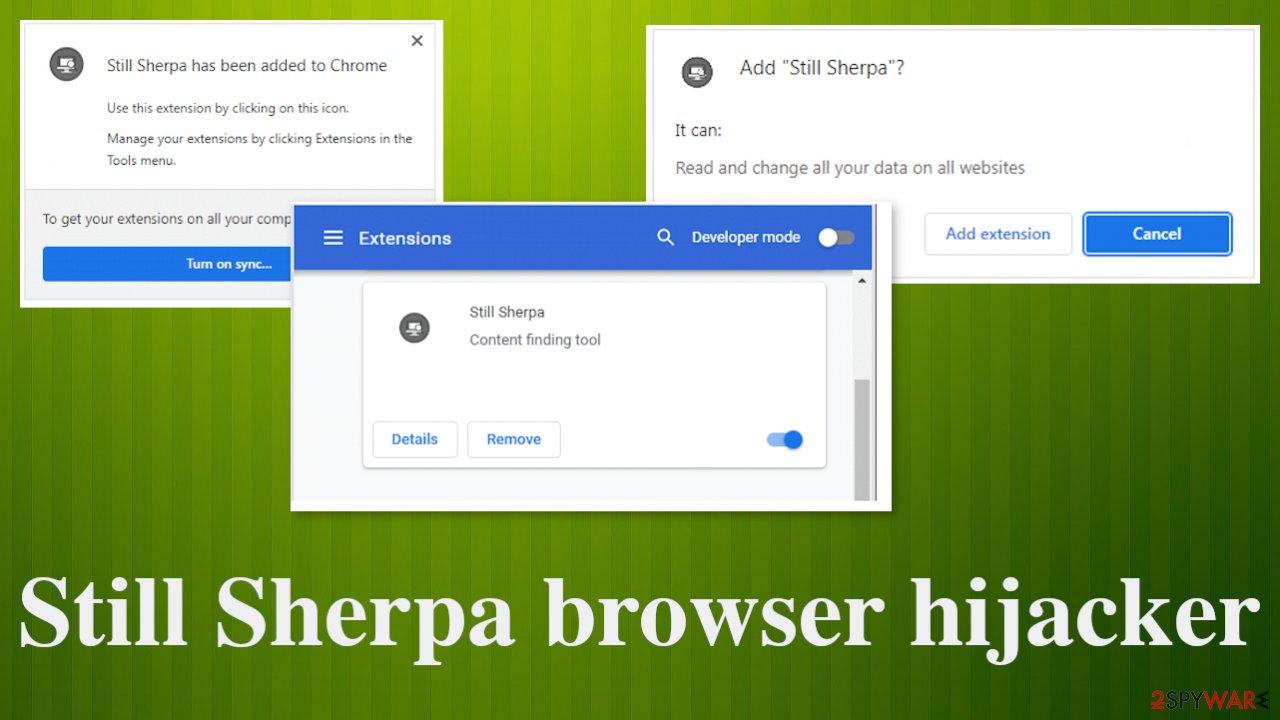 Still Sherpa browser hijacker