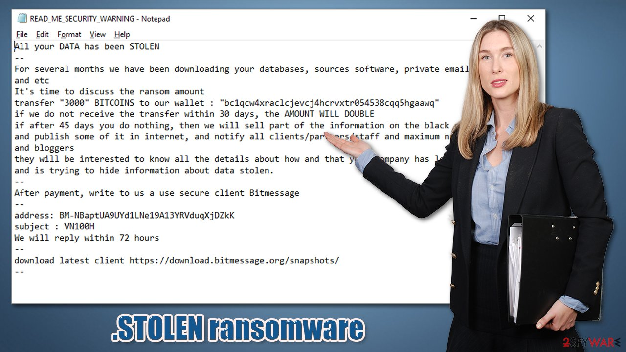 .STOLEN ransomware virus