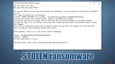.STOLEN ransomware