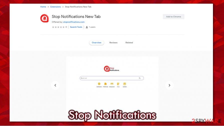 Stop Notifications distribution