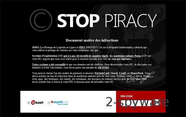 Stop Piracy snapshot