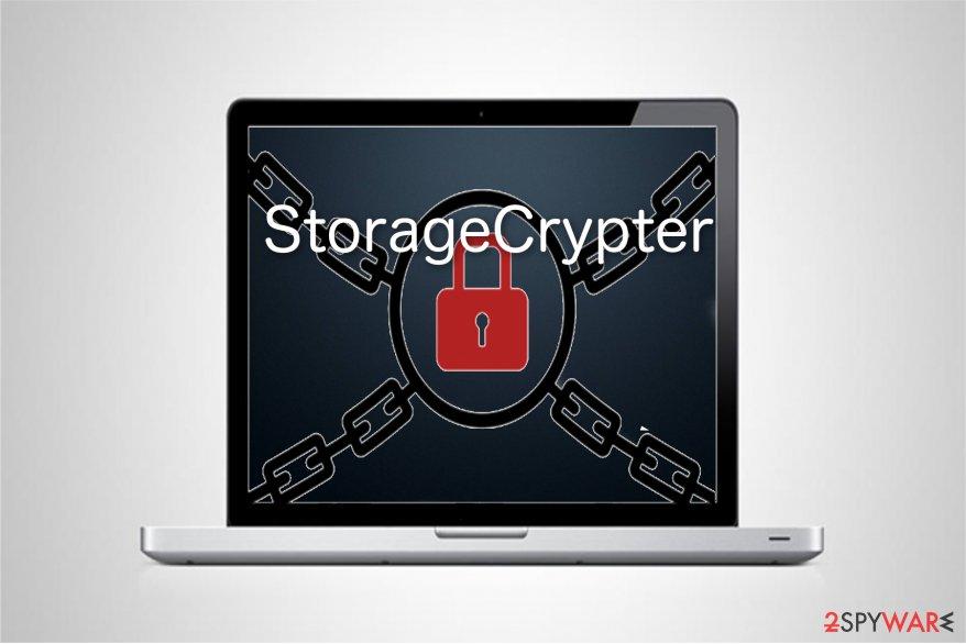 StorageCrypter virus illustration