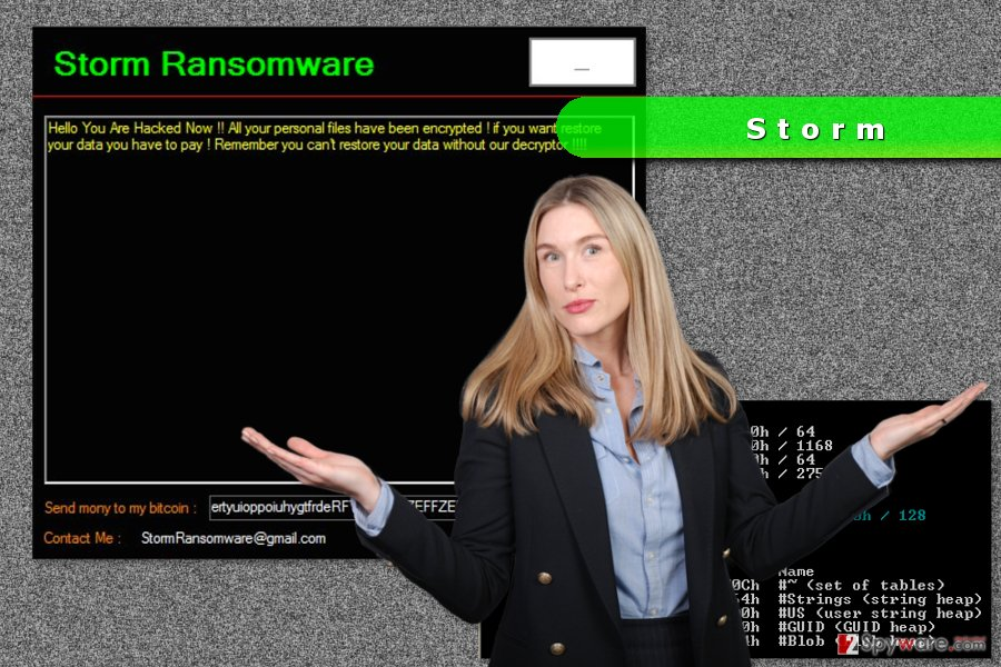 The image of Storm ransomware virus