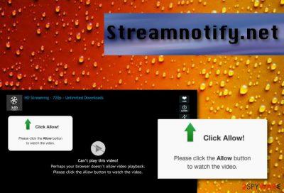 Streamnotify.net pop-ups
