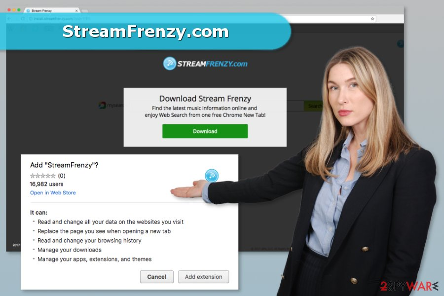 StreamFrenzy.com browser hijacker