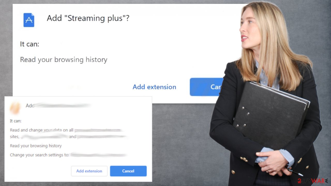Streaming plus browser hijacker