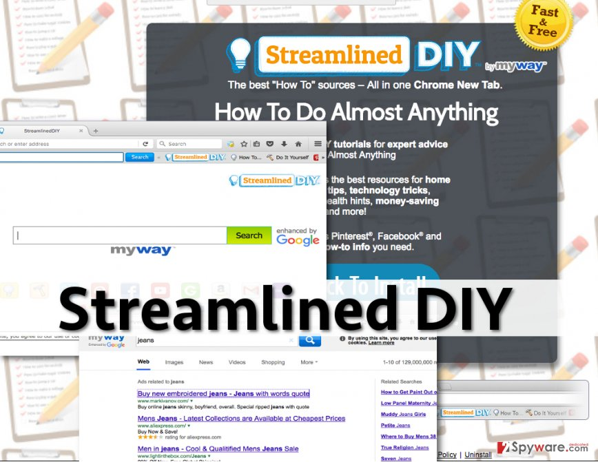 Streamlined DIY ads appear in the search results powered by this search engine