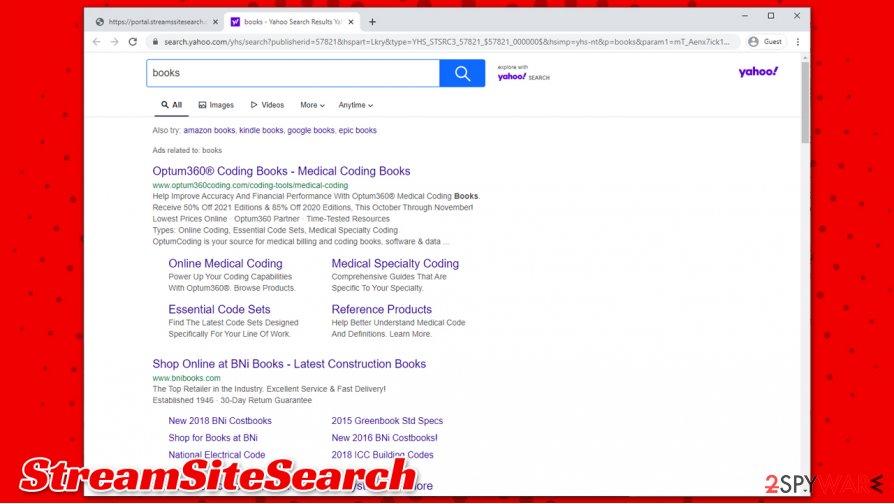 StreamSiteSearch virus