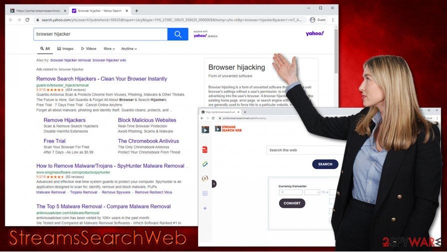 StreamsSearchWeb hijack