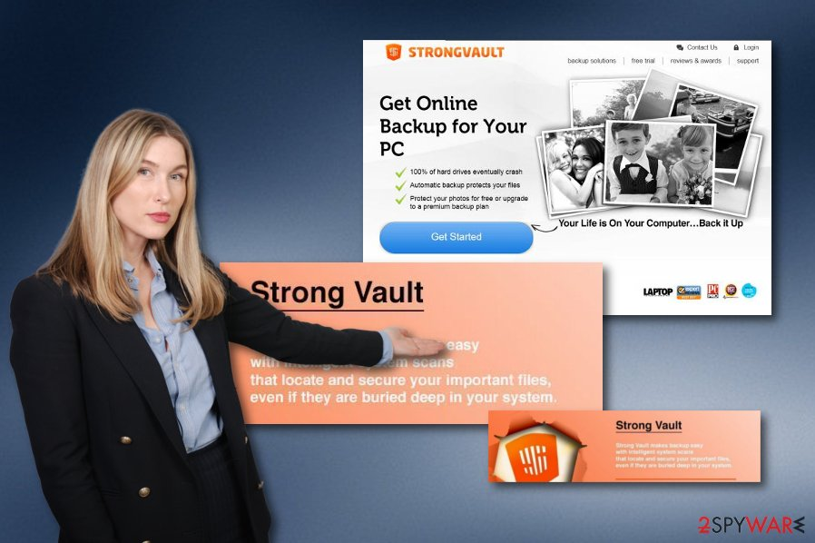 StrongVault Online Backup suspicious program