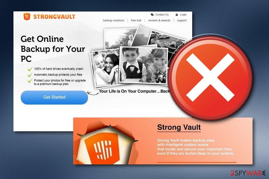 StrongVault Online Backup virus