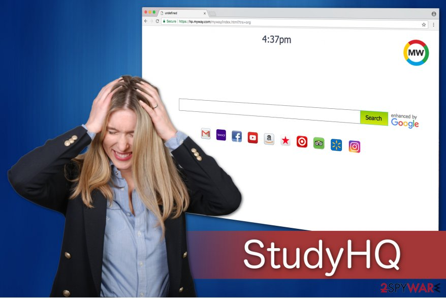 StudyHQ toolbar illustration