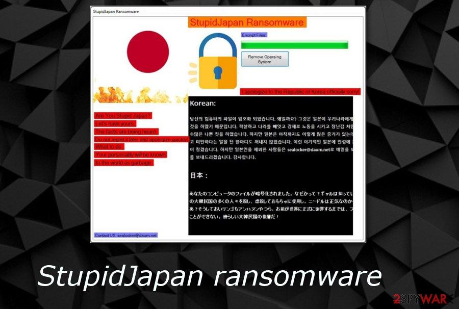 StupidJapan ransomware virus