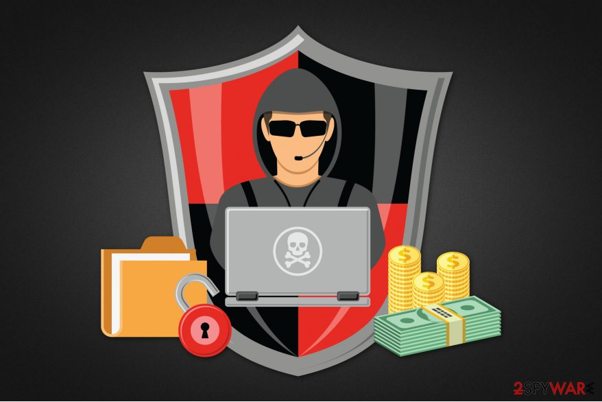 An abstract illustration of Styver ransomware