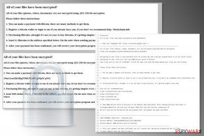 Styx ransomware ransom notes
