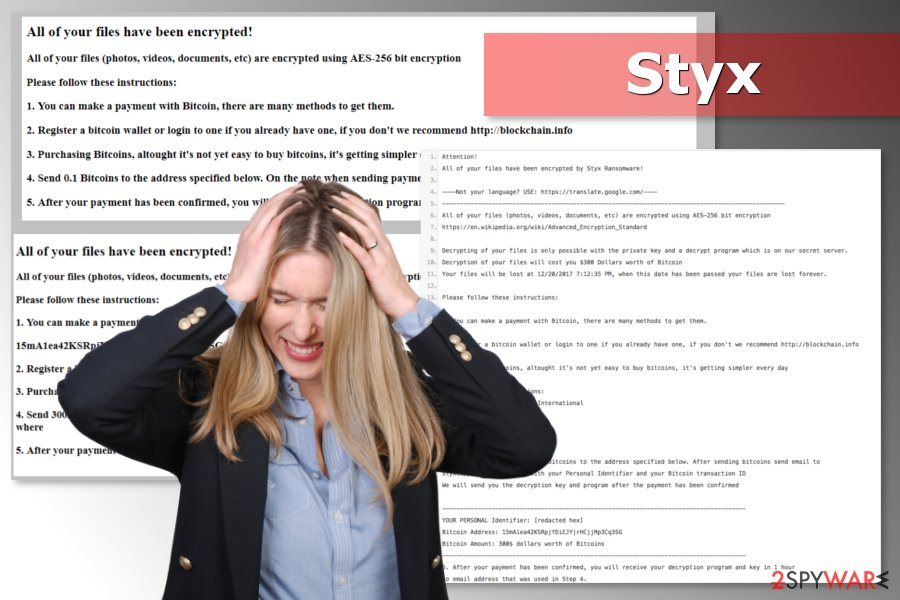 Image of Styx ransomware
